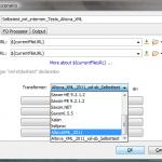 OxygenXML: Auswahl der XSLT-Prozessors im Transformationsszenario