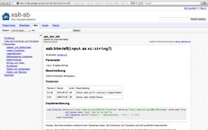 XSLT-SB im Google-Code-Wiki